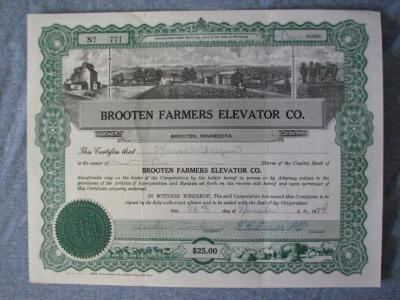 Certificate, Stock