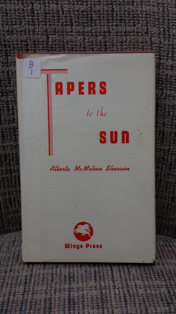Helen Goodrich Mastin Book of Verse Tapers in the Sun