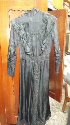 Black satin dress