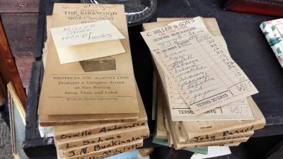 Account books (35 of them) from Miller's store
